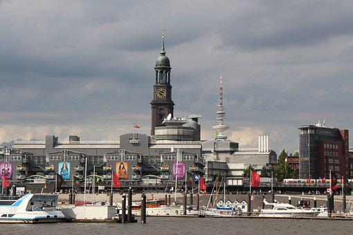 Michel, Hamburg, Elbe, Skyline, View, Hanseatic City