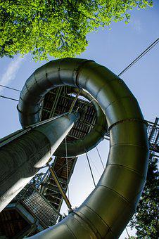 Slide, Play, Playground, Leisure, Play Outside, Skywalk