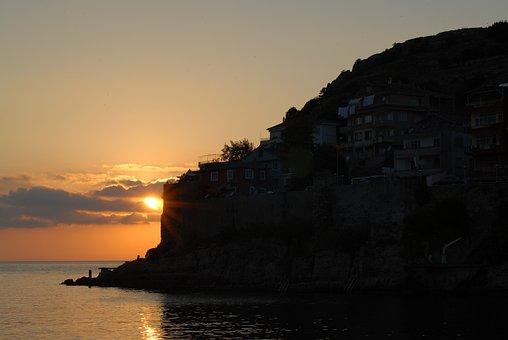 Landscape, Solar, Sunset, Marine, Peace, Beach, Coastal