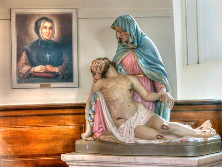 Church, The Pietà, Religious, Sculpture, Cacouna