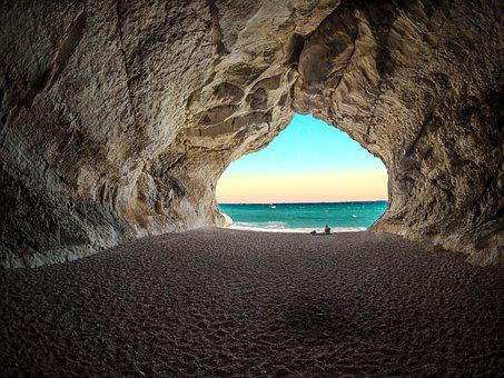 Edits, Tunnel, Sea, Ocean, Sky, Nature, Water