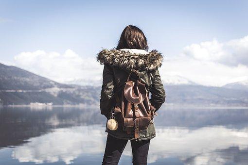 People, Woman, Travel, Bag, Adventure, Alone, Mountain