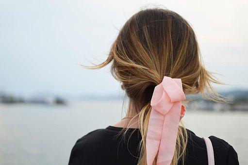 Hair, People, Woman, Bun, Tie, Messy