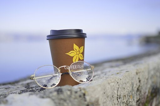 Eyeglasses, Frame, Lens, Grade, Stone, Coffee, Hot, Cup