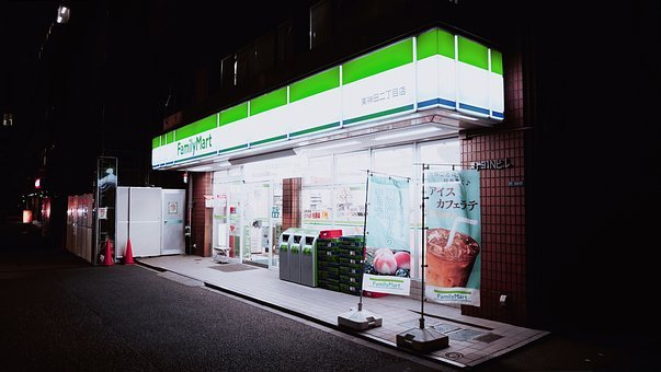 Building, Dark, Night, Convenience, Store, Shop