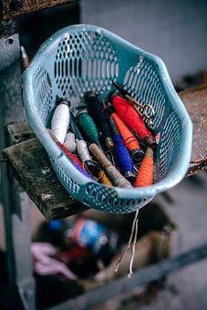 Yarn, Thread, Tray, Sew, Tie, Industrial, Factory