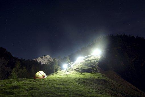 Mountain, Highland, Dark, Sky, Landscape, Nature