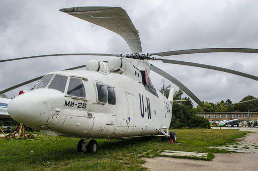 Helicopter, Transport, Mi-26, Un, White, Museum
