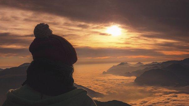 Mountain, Highland, Summit, Peak, Valley, Landscape
