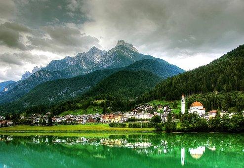 Auronzo Di Cadore, Dolomites, Mountains, Italy, Alpine