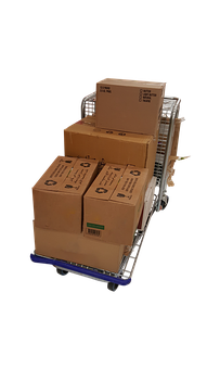 Trolley, Boxes, Moving, Png, Delivery, Box, Package