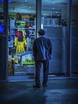 People, Old, Elderly, Man, Outside, Grocery