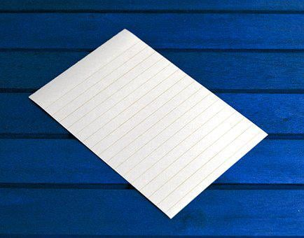 Notes, Message, Post, Paper, Reminder, Blue, Empty