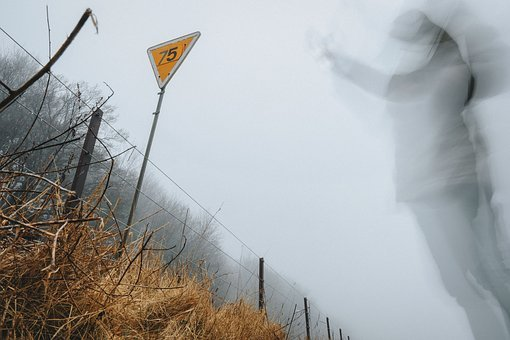 People, Man, Blur, Moving, Warning, Sign, Number, 75