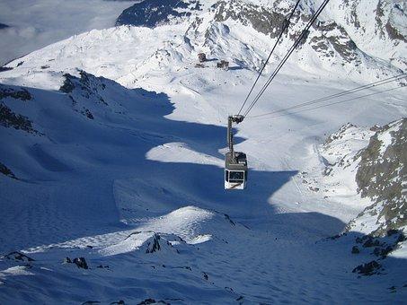 Verbier, The Cablecar, Snow