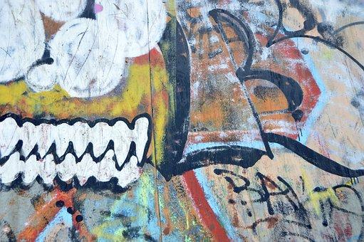 Wall, Vandalism, Art, Paint, Letters