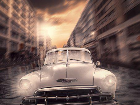 Auto, Berlin Race, Oldtimer, Tour, Taxi, Fast, City