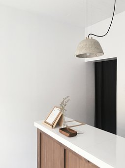 Lamp, Light, Wall, Table, Cabinet, Coin, Cardboard