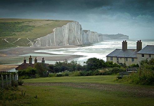 Cuckmere, Sussex, England, Cliff, Coast, Downs, Seaside