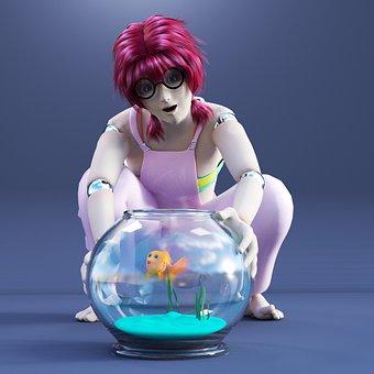 Anime, Manga, Cosplay, Girl, Goldfish, Figure, Doll