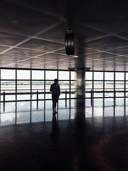 Guy, Man, Glass, Window, Floor, Reflection, Building