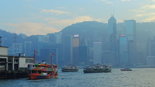 Hongkong, Ferry, Hong, Asia, Kong, City, Landmark