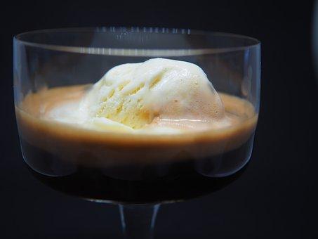 Espresso, Coffee, Ice, Affogato Al Caffè