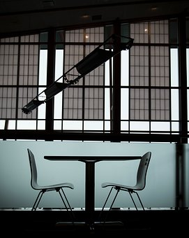 Table, Chairs, Inside, Indoor, Building, Office