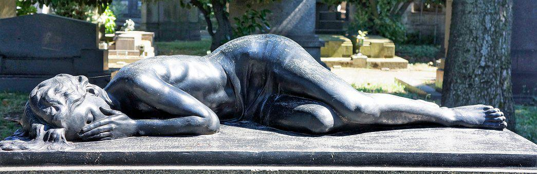 Grief, Loss, Missing, Reclining, Lady, Grieving