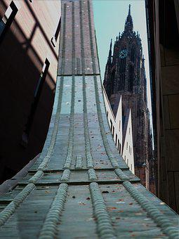Frankfurt, Dom, Places Of Interest, Old Town, Steeple