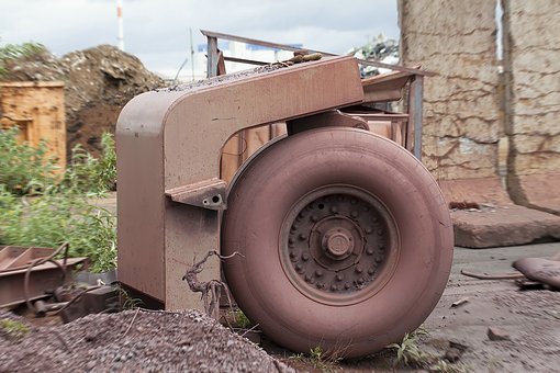 Junkyard, Chassis, Wheel, Metal, Recycling