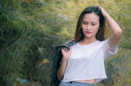 Girl, Beautiful, Nice, Lovely, White Skin, Red Lips