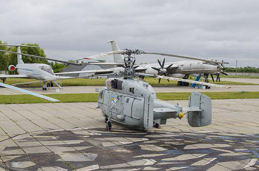 Helicopter, Exhibit, Biaxial, Deck, Sea, Museum