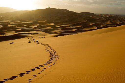 Desert, Landscape, Highland, Mountain, Sky, View