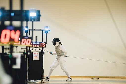 People, Man, Teen, Sport, Fencing, Olympic, Sword, Gear