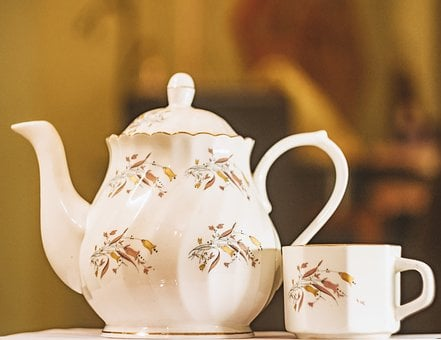 Teapot, Cup, Cutlery, China, Dish, Tea, Drink, Hot