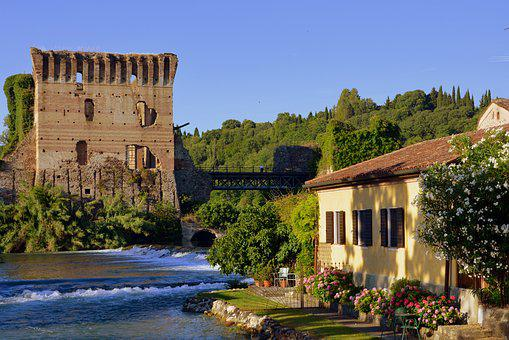 Lake, Torre, Water, Middle Ages, Borghetto