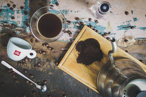 Table, Coffee, Bean, Seed, Hot, Water, Cup, Mug, Glass
