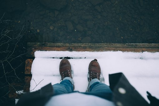 Snow, Winter, Leather, Shoe, Jeans, Travel