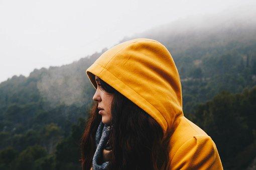People, Woman, Hoodie, Cold, Weather, Travel, Adventure