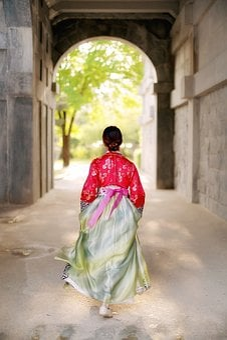Korean, Asian, Hanbok, Dress, Architecture, Building