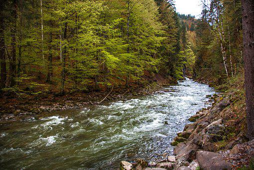 Breitachklamm, Bavaria, Gorge, Mountain Stream, Water