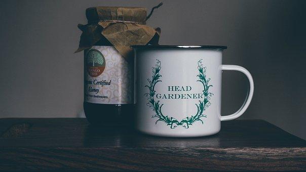 Mug, Wooden, Table, Bokeh, Blur, Indoor, Quote