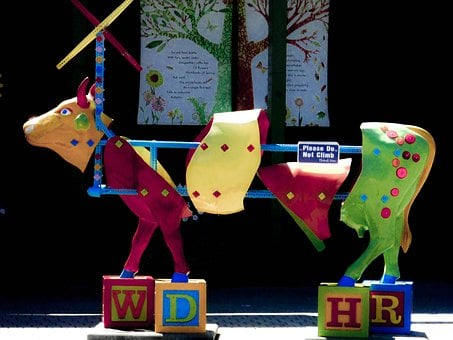 Portland Oregon, Zoo, Cow, Puzzle, Children's Museum