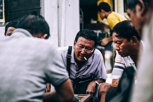 Men, People, Eyeglasses, Cigarette, Planning, Talking
