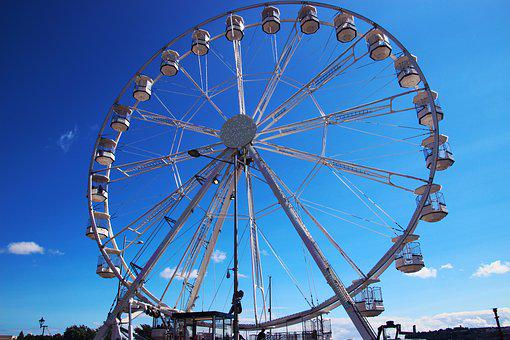 Ferris Wheel, Fairground, Wheel, Entertainment, Fun