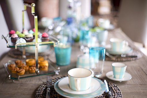 Table, Invite, Food, Decoration, Background, Color