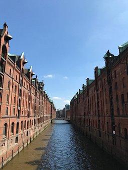 Hamburg, Speicherstadt, Elbe, Brick, Old Speicherstadt