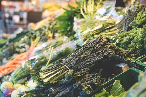 Green, Leaf, Vegetables, Market, Grocery