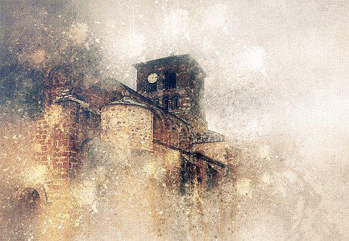 Church, Bell Tower, Religious, Village, France